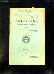 Lo Gai Saber N° 165 Julhet 1938. Revista De L Escola Occitana. - Couverture - Format classique