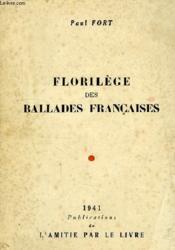 Florilege Des Ballades Francaises - Couverture - Format classique