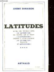 Latitudes - Couverture - Format classique