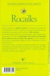 Rocailles - 4ème de couverture - Format classique