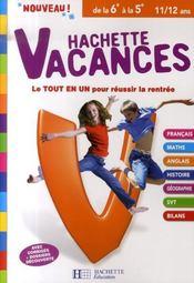 Hachette Vacances ; De La 6ème A La 5ème - Intérieur - Format classique