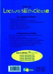 Lecture ; CE2 ; fichier de l'élève - 4ème de couverture - Format classique