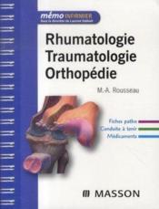 Rhumatologie, traumatologie, orthopédie - Couverture - Format classique