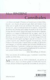 Cannibales ; Traversee Dans L'Enfer De Gibraltar - 4ème de couverture - Format classique