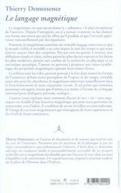 Le langage magnétique - 4ème de couverture - Format classique