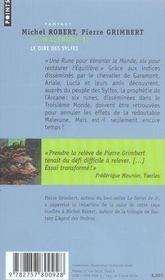 La malerune t.2 ; le dire des sylfes - 4ème de couverture - Format classique