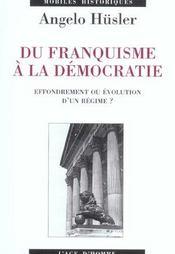 Du Franquisme A La Democratie ; 1953-1976 - Intérieur - Format classique