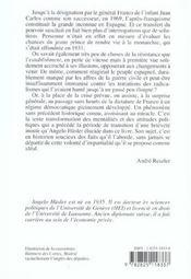 Du Franquisme A La Democratie ; 1953-1976 - 4ème de couverture - Format classique