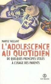 L'Adolescence Au Quotidien - Intérieur - Format classique