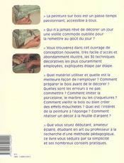 Et Si J'Apprenais T.6 ; La Peinture Sur Bois - 4ème de couverture - Format classique