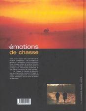 Emotions De Chasse - 4ème de couverture - Format classique
