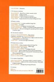 Cahiers georges pérec t.9 ; le cinématographe - 4ème de couverture - Format classique