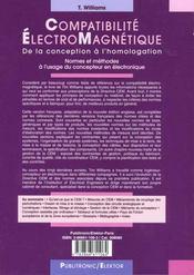 Compatibilite Electromagnetique - 4ème de couverture - Format classique