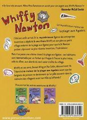 Whiffy Newton ; le mystérieux voleur de la plage aux Agates - 4ème de couverture - Format classique