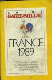 Guide Gault Millau France 1989 - Couverture - Format classique