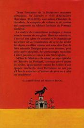 Légendes et récits du Portugal - 4ème de couverture - Format classique