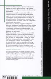 Tombeau de John Coltrane - 4ème de couverture - Format classique