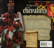 L'âge d'or des chevaliers - 4ème de couverture - Format classique