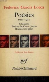 Poesies : 1921 - 1927. Chansons, Poeme Du Cante Jondo, Romancero Gitan.Collection : Poesie. - Couverture - Format classique