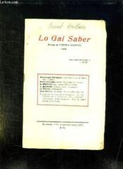 Lo Gai Saber N° 253 Setembre Octobre 1953. - Couverture - Format classique