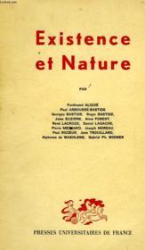 Existrence Et Nature - Couverture - Format classique