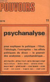 Pouvoirs 11 - Psychanalyse - Couverture - Format classique