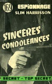 Sinceres Condoleances - N°169 - Couverture - Format classique