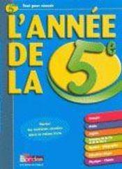 L'ANNEE DE ; l'annee de la 5eme - Intérieur - Format classique