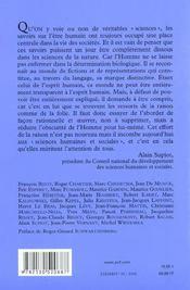 Pour une politique des sciences de l'homme et de la societe - recueil des travaux du conseil nationa - 4ème de couverture - Format classique
