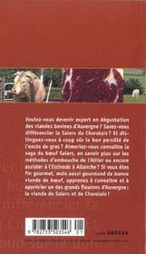 Saveurs D'Auvergne:Salers Et Charolais - 4ème de couverture - Format classique