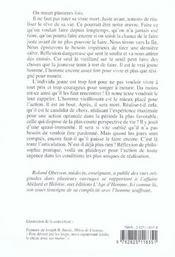 Tirer Sur La Fin ; Essai Sur L'Utile Previeillesse - 4ème de couverture - Format classique