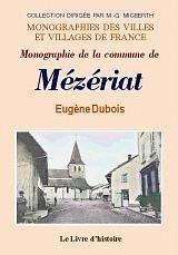 Mezeriat (Monographie De La Commune) - Couverture - Format classique