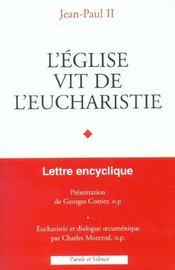 Eglise vit de l eucharistie - Intérieur - Format classique