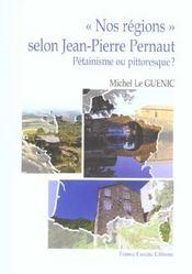 Nos regions selon j.-p. pernault - Intérieur - Format classique