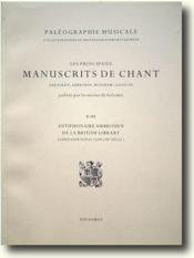 Antiphonaire Ambrosien - Couverture - Format classique