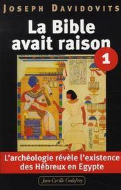 La Bible avait raison ; l'archéologie révèle l'existence des hébreux en Egypte - Intérieur - Format classique