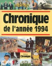 Chronique de l'année 1994 - Couverture - Format classique