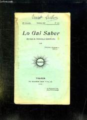 Lo Gai Saber N° 156 Octobre 1937. - Couverture - Format classique
