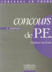 Concours Professeurs Des Ecoles - Couverture - Format classique