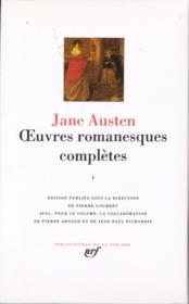 Oeuvres romanesques complètes t.1 - Couverture - Format classique