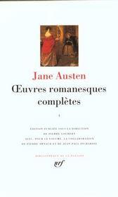 Oeuvres romanesques complètes t.1 - Intérieur - Format classique