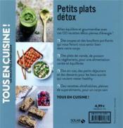 Petits plats détox - 4ème de couverture - Format classique
