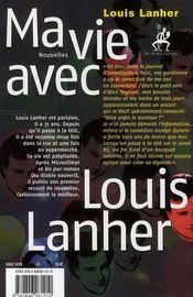 Ma vie avec Louis Lanher - 4ème de couverture - Format classique