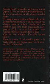 Cle Interdite - 4ème de couverture - Format classique