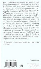 Cycle de Tristan de Castelreng t.1 ; les amants de brignais - 4ème de couverture - Format classique