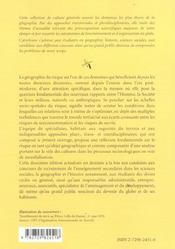 La Geographie Des Risques Dans Le Monde 2e Edition Mise A Jour - 4ème de couverture - Format classique
