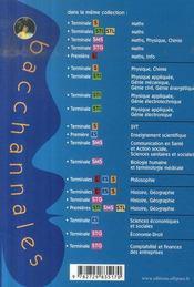 Bacchannales S ; Mathématiques ; Enseignement Obligatoire Et De Specialité ; Annales Thématiques Et Résumés De Cours (Bac 2008) - 4ème de couverture - Format classique