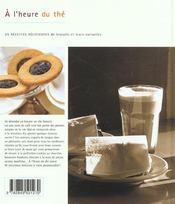 À l'heure du thé - 4ème de couverture - Format classique