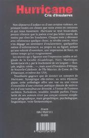 Hurricane, cris d'insulaires ; anthologie poétique - 4ème de couverture - Format classique