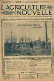 L'agriculture nouvelle, n°1100, samedi 18 mai: exploitation des forets une coupe - Couverture - Format classique